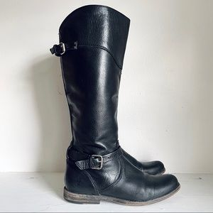 Frye Phillip Riding Boot In Black Extended Calf